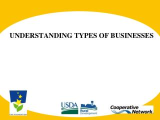 UNDERSTANDING TYPES OF BUSINESSES