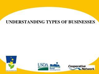 UNDERSTANDING TYPES OF BUSINESSES