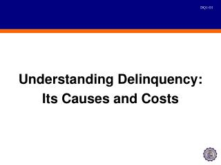 Understanding Delinquency: Its Causes and Costs