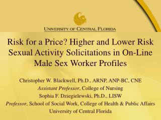Male Sex Workers and the Internet: An Emerging Body of Literature
