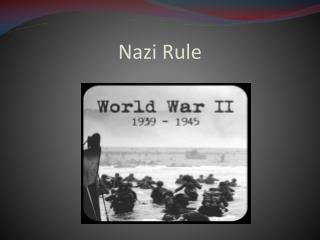 Nazi Rule