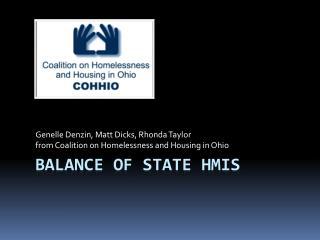 Balance of State HMIS