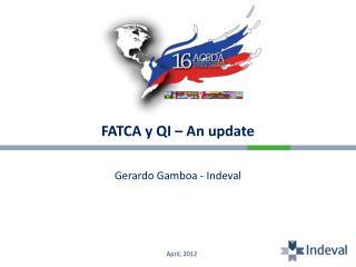 FATCA y QI – An update