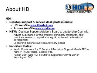 About HDI