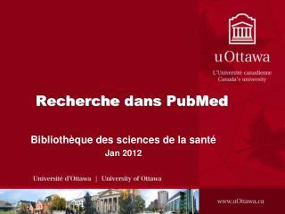 Recherche dans  PubMed