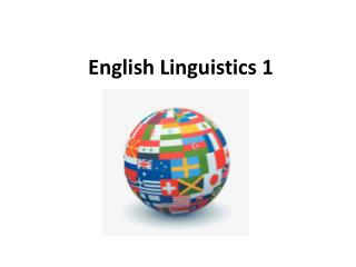 English Linguistics 1