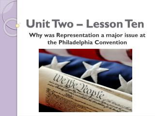 Unit Two � Lesson Ten