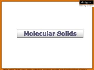 Molecular Solids