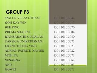 GROUP F3