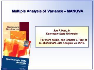 Multiple Analysis of Variance � MANOVA