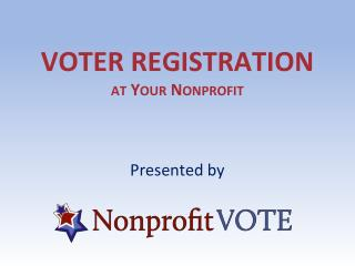 VOTER registration at Your Nonprofit