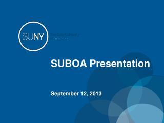 SUBOA Presentation