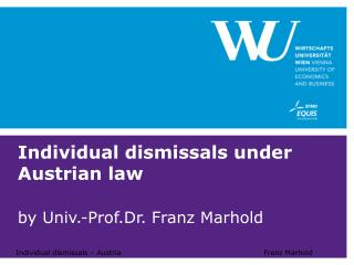 Individual dismissals under Austrian law