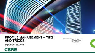 Profile Management � tips and tricks