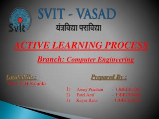 ACTIVE LEARNING PROCESS