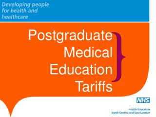 Postgraduate Medical Education  Tariffs