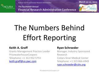 The Numbers Behind Effort  Reporting