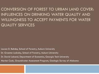 Lauren D.  Behnke , School of Forestry, Auburn University