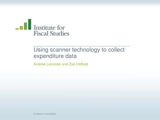 Using scanner technology to collect expenditure data