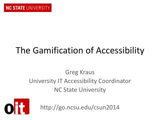 The  Gamification  of Accessibility