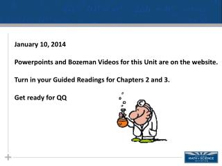 January 10, 2014 Powerpoints  and Bozeman Videos for this Unit are on the website.