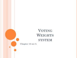 Voting Weights system