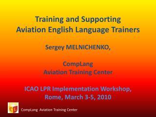 CompLang   Aviation Training Center