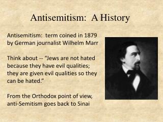 Antisemitism :  A History