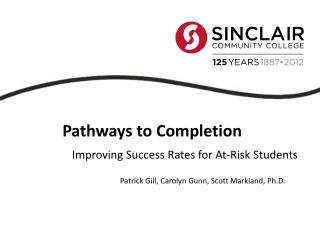 Improving Success Rates for At-Risk Students