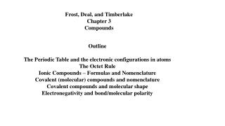 Frost, Deal, and Timberlake Chapter 3 Compounds