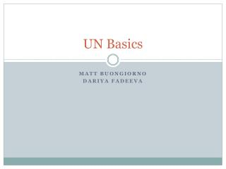 UN Basics