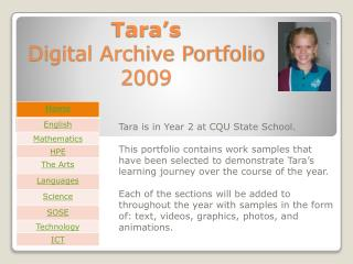 Tara's  Digital Archive Portfolio 2009