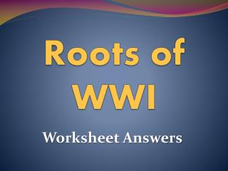 Roots of WWI