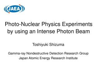 Photo-Nuclear Physics Experiments  by using an Intense Photon Beam