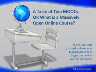A Taste of Two MOOCs:  OR What is a Massively Open Online Course?