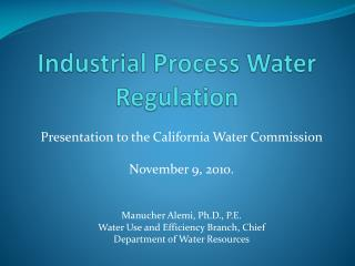 Industrial Process Water Regulation