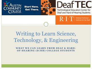 Writing to Learn Science, Technology, & Engineering