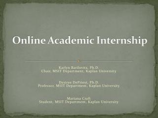 Online Academic Internship
