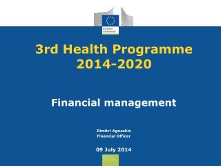 3rd  Health Programme 2014-2020
