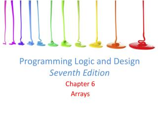 Programming Logic and Design Seventh Edition