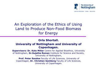 An Exploration of the Ethics of Using Land to Produce Non-Food Biomass for Energy