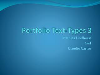 Portfolio Text-Types 3