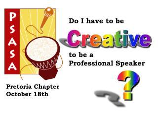 Pretoria Chapter October 18th