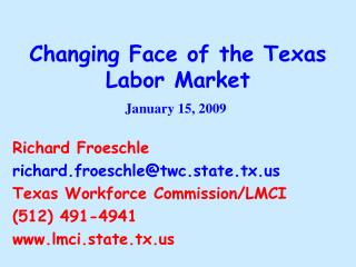 Changing Face of the Texas Labor Market