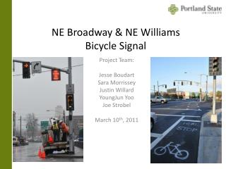 NE Broadway & NE Williams Bicycle Signal