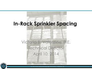 In-Rack Sprinkler Spacing