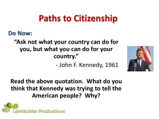 Paths to Citizenship
