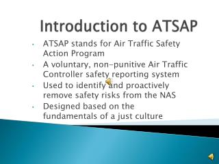 Introduction to ATSAP