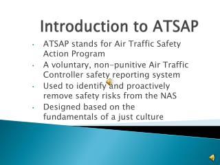 Introduction to ATSAP