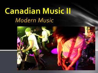 Canadian Music II